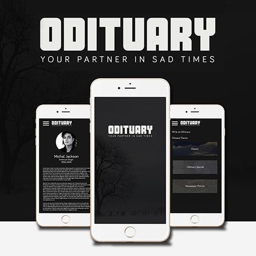 Odituary App UI/UX Design