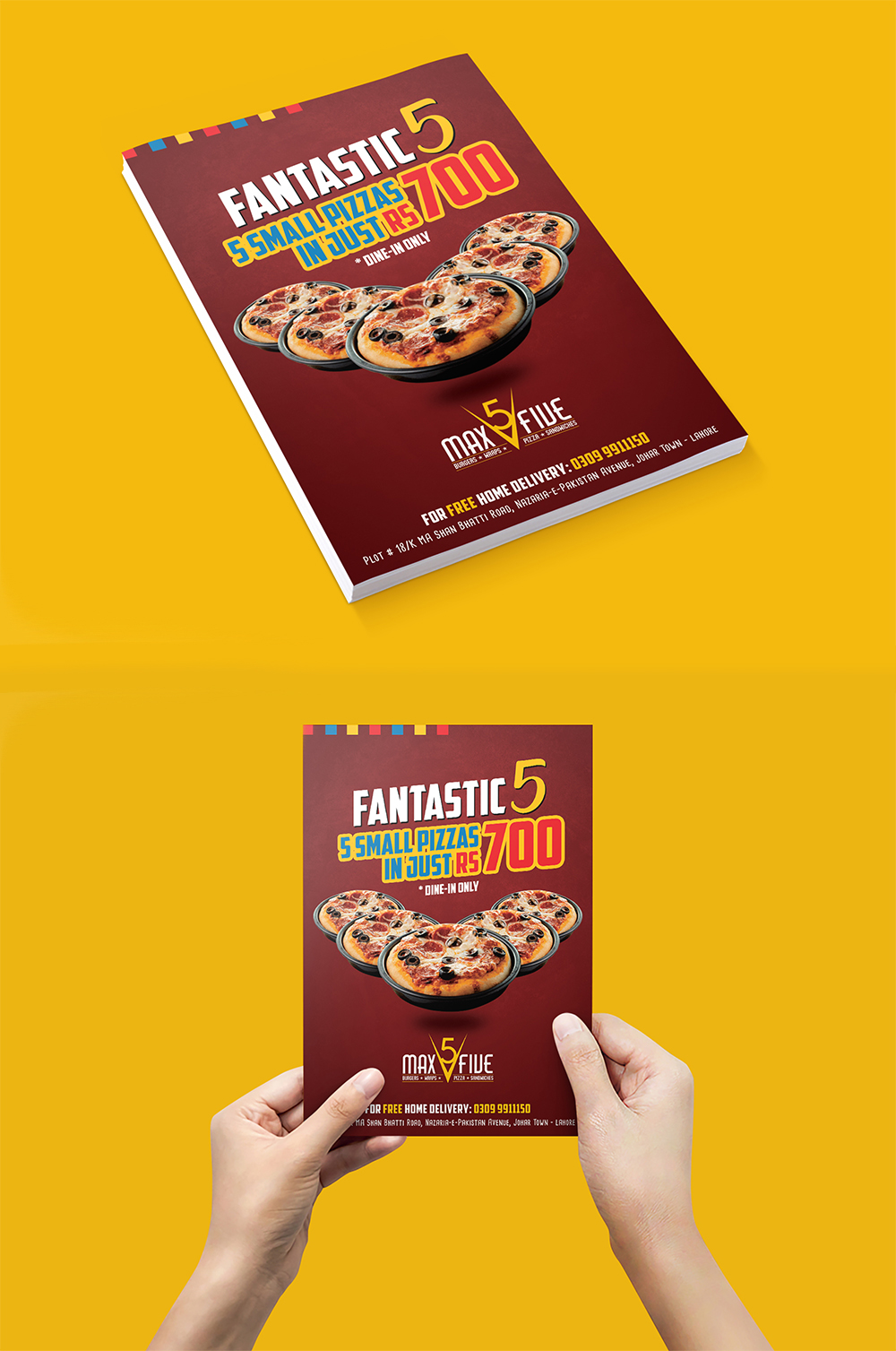 Max Five Flyer Design